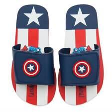 NWT Disney store Boy Captain America Flip Flops Sandals Shoes Avengers Marvel