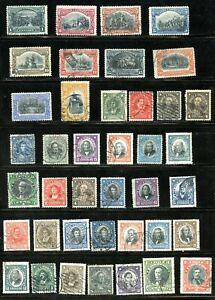 LOT 91449 USED 83 / 145 COLLECTION OF FORTY USED STAMPS FROM  CHILE
