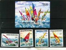 CONGO 1983 SUMMER OLYMPIC GAMES LOS ANGELES SET OF 4 STAMPS & S/S MNH