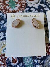 BRAND NEW W/TAGS AUTHENTIC KENDRA SCOTT ELLIE EARRINGS GOLD GLD Iridescent Drusy