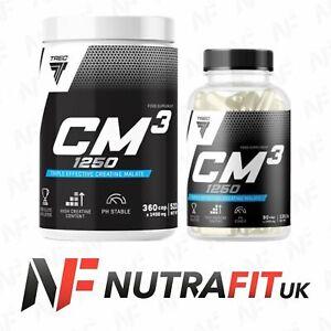 TREC NUTRITION CM3 1250 TRI CREATINE MALATE TCM CAPS