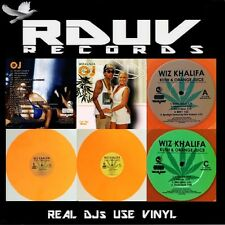 "WIZ KHALIFA - OJ & KUSH - 2 LP Orange VINYL 12"" ALBUM - 500 Worldwide"