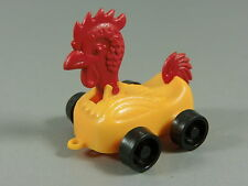 Toy: Rolling Animal Eu Rooster Yellow/Red