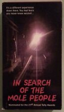 IN SEARCH OF THE MOLE PEOPLE   VHS VIDEOTAPE