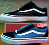 Vans Old Skool Black/Blue & White Canvas+Suede Skate Shoes/Sneakers, VN000D3HY28