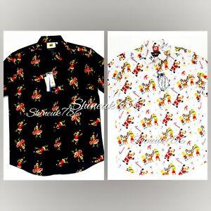 Grinch/Simpsons Christmas Novelty Casual Regular Short Sleeve Shirt Mens Primark