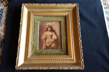 19th Century Crystoleum in Gilt Frame - Girl with Flowers