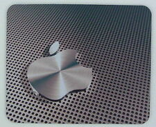 """Machined Industrial Aluminium Apple"" print MOUSE MAT PAD for Mac Macbook iPad"