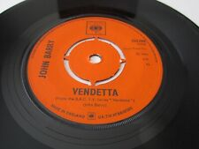 "JOHN BARRY Vendetta TV Theme 1966 UK CBS RECORDS 7"" VINYL SINGLE 202390"