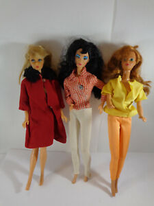 LOT OF 3 VINTAGE MATTEL BARBIE DOLLS