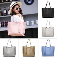 Women Lady PU Leather Tote Shoulder Handbag Purse Shopper Clutch Bag FASHION NEW