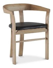 "29"" H Bruno Set of Two Dining Chair Acacia Leather Lionskin Natural"
