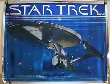 ORIGINAL STAR TREK THE MOTION PICTURE U.S.S. ENTERPRISE MYLAR POSTER (1979)