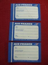 AIRLINE BAGGAGE STICKERS X 3 AIR FRANCE 1980'S / 90'S VINTAGE