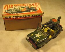 Vintage 1950's Kks Komoda Shoten Tin Litho Toy Usa Air Command Jeep W/Box Japan