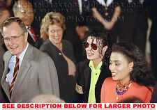 MICHAEL JACKSON1989 w PRESiDENT BUSH(1) RARE  PHOTO