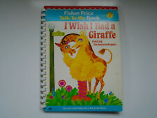 Fisher Price Talk To Me Book #7, I Wish I Had a Giraffe, Sesame Street, 1978