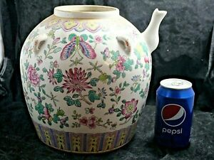 VERY BEAUTIFUL & LARGE CHINESE POTTERY TEAPOT HUGE SIZE VERY RARE L@@K