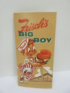 Vintage 1959 Frisch's Big Boy Restaurant Menu NOS RARE!