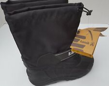 New Kamik Boys Black Snowbuster Waterproof Snow Boots Youth 4 USA 36 EUR 25