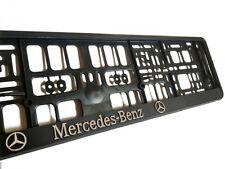 Black 3D Mercedes Benz European Euro License Number Plate Holder Frame German EU