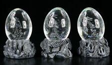 Drachen in Eiern - Schneekugel 3er Set - Deko Figuren Dragon Egg Statue