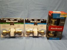 Lot Of 3 Kwikset Knobs Bed/Bath And Hall/ Closet