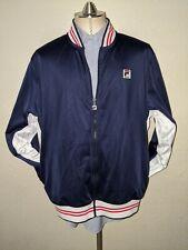 FILA Colorblock Bjorn Borg Jacket Tennis Track Warm Up Mens XL red white blue