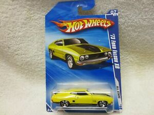FORD FALCON XB YELLOW 125/240 HOT WHEELS ALL BLUE LONG CARD 2010 1:64 SCALE