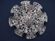 Buckle / Flower / Silver / Diamonte / Wedding, Shoe embellishment / Bouquet (r1)