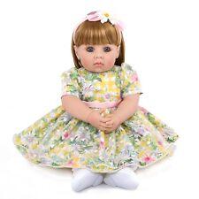 "Reborn Baby Dolls Newborn Babies Gift 20"" Toddler Soft Vinyl Silicone Girl Doll"