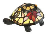 """3.5"""" Tiffany Style glass shade Turtle Accent Lamp Vintage Bronze Tabletop Decor"""