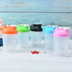 1pc protein shaker water bottle sports fitness gym multifunction 400ml3C