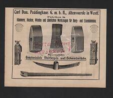 ALTENVOERDE, Anzeige 1909, Carl Dan. Peddinghaus GmbH Hacken Winden-Fabriken