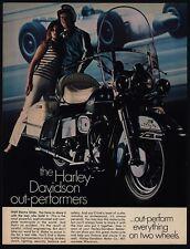 1969 HARLEY DAVIDSON ELECTRA GLIDE Motorcycle - The Outperformers - VINTAGE AD