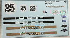 Porsche Carrera RS 1/24 Decals