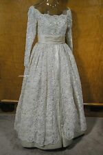 Michael Novarese $35,000 Haute Couture Beaded & Sequinned Silk Wedding Dress