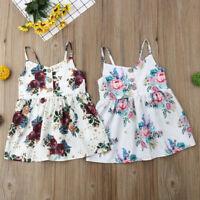 Fashion Kids Baby Girls Flower Princess Sleeveless Dress Sundress Summer Clothes