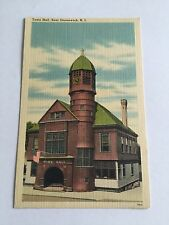TOWN HALL EAST GREENWICH RHODE ISLAND POSTCARD
