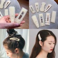 5Pcs Elegant Pearl Beaded Hair Clip Barrettes Set Women Hairpin Hair Accessories