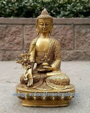 Collectables Dynasty China Old copper Statue Unique Vintage Buddha Lucky 20cm