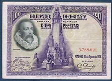 BILLET de BANQUE D'ESPAGNE 100 PESETAS Pick n° 76 du 15-8-1928 en TTB 6,788,921