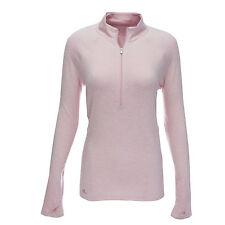 adidas Women's Advance Rangewear 1/2 Zip Sweater Light Pink Heather XS