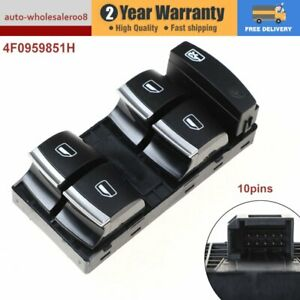 NEW Master Power Window Control Switch For AUDI A3 8P A4 S4 RS4 B6/B7 A6 S6 Q7
