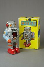 Vintage Wind-Up Sparking Tin Robots Lot of 2 w box Exc Cond!