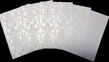 Cristina Re Luxury Flocked Paper x 5  *TIFFANY PERLE*  ~ 15cm x 10.5cm