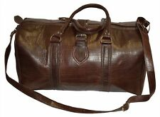 Leather Duffle Travel Bag Sport Gym Duffel Carry On Luggage Baggage XL Chocolate