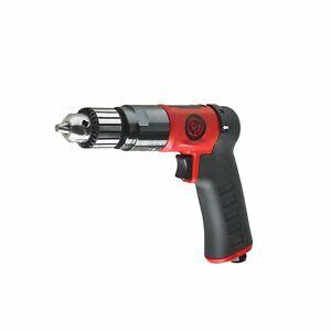 "CP9790C Pistol Grip Drill 3/8"" 10mm Key Chuck Reversible 2100 rpm"