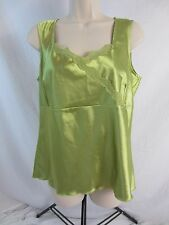Bay Studio Sleeveless Shiney Stretch Green Shirt - Women's M - 1312 - New w/Tags