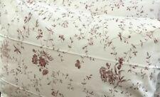 IKEA Alvine Bukett Twin Duvet Quilt Cover w/ Pillowcase Floral Cranberry Red NOS
